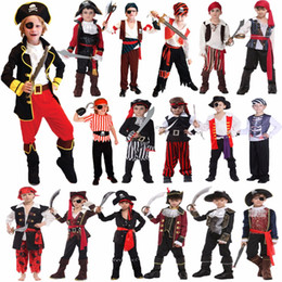 clothing for pirates Promo Codes - halloween knit Umorden Halloween Costumes for Boy Boys Kids Children Pirate Costume Fantasia Infantil Cosplay Clothing