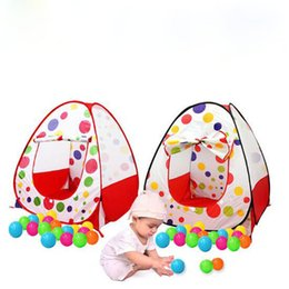Wholesale Pop Up Toy Tents - Children Kids Play Tents Outdoor Garden Folding Portable Toy Tent Indoor&Outdoor Pop Up Multicolor Independent House