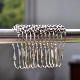 Wholesale metal shower curtain hooks wholesale - 12 Pack Shower Curtain Hooks Rust-Proof Stainless Steel Shower Rings Curved Hooks Heavy Duty Stainless Steel Rustproof EEA389