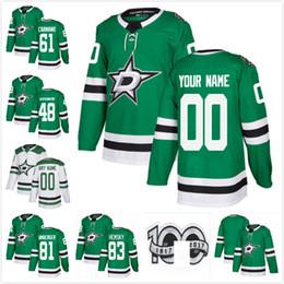 66731b0ac Saison 2017-2018 Dallas Stars 83 Ales Hemsky R.J. Umberger Nicholas Caama  Dillon Heatherington 100ème Patch Maillots de Hockey Personnalisés Domicile  ...