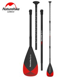 Wholesale paddles sup - Naturehike 3-Piece Adjustable Carbon Fibre SUP Paddle Inflatable Surf Board Stand Up Aluminum Alloy Paddle Water Surfing Sports