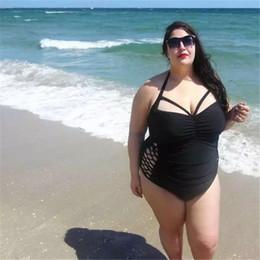 e6daa7d6e25 2018 Ladies Plus Size Pierced Solid Color Piece Swimsuit Women Fat Granny  sling Multi-Rope Sexy Bikini Set Ladies Beach Bathing Suit fat women  bathing suits ...