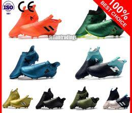 Wholesale 12 X 16 - Cheap ACE 17.1 Purecontrol FG Football Boots Indoor X 17 16 Purechaos Soccer Shoes Messi Nemeziz Soccer Cleats Predator Mania Champagne