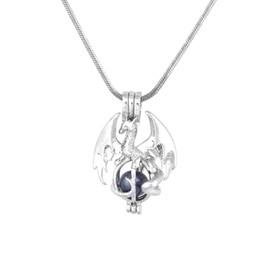 pendentifs cage de perle en gros Promotion 16.Haute Qualité Argent Plaqué Perle Cage Pendentif Mode Dragon Cadeau Pour Firends Bijoux En Gros P195