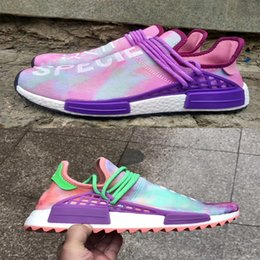 Wholesale West Point Print - Human Race NMD Shoes Family Friends Purple Harrell Williams New Arrival West Boost Sport Sneakers Fashion Men Women Running Shoes