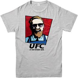 debbae974 Engraçado KFC Conor Mcgregor UFC T-Shirt Dos Homens