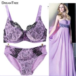 c5d35ce4b2 Dream Tree Bra   Panty Sets Plus Size Hot Sexy XXX Bra Panty Spandex  Material Push Up D Cup 2017 Set Lace Pink Lingerie