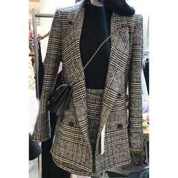 Wholesale Two Piece Coat Dress Girls - The new spring coat maxmara girls long Korean fan size slim windbreaker suit collar dress tide