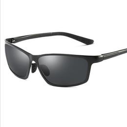 impulsiones flash de los pescados Rebajas UV400 Nueva Moda Deporte Gafas de Sol Polarizadas flash Eyewear Al-Mg piernas Gafas de Visión Nocturna Conducción de Pesca para Hombres A514