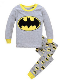 Wholesale Boys Pyjamas Cartoon - Children Pajamas Sets Cartoon Printed Kid Boys Sleepwear Set Cotton Long Sleeve Baby girls Pyjamas Clothing Set for children