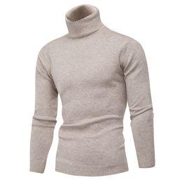 Maglione invernale in caldo e spesso 100% maglione di cachemire Dolcevita uomo di marca Maglioni slim fit Pullover uomo Maglieria doppio collo supplier men slim fit sweaters da maglioni sottili da uomo fornitori