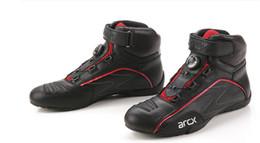 Argentina Moda Arcx nuevo diseño de hebilla rotatoria de la motocicleta botas protectoras de carreras de bicicletas zapatos de montar en motocicleta de los hombres zapatos de montar de crucero cheap shoes boot design Suministro
