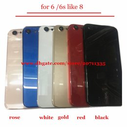 Wholesale House Housing - AA quality For iPhone 6 6G 6S Like 8 Style 8 PLUS Back Rear Cover Battery Housing Door Chassis Middle Frame