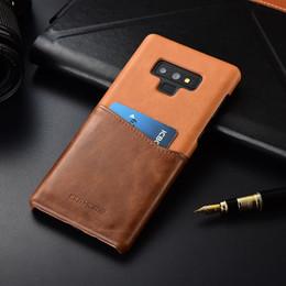 Couleur de la poche galaxie en Ligne-Vente en gros pour Samsung Galaxy Note 9 KEZiHOME Luxe en cuir véritable Hit-Color Couverture dure pour Galaxy Note 9 avec fonds de cartes