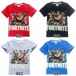 Wholesale old clothing brands - Boys Girls fortnite t shirt 100% Cotton 13 designs 6~14 years old kids t shirt summer Short-Sleeved kids clothing children clothing