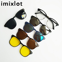 wholesale reading sunglasses Coupons - IMIXLOT 5pcs Magnetic Clip Sunglasses Women Glasses with Polarized Eyeglasses Myopia Optical Reading Frame with Package