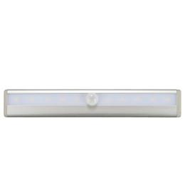 Wholesale bar steps - LED Cabinet Light IR Infrared Motion Detector Sensor Closet Night Light Lamp 10LEDs Induction Wardrobe Step Lights Bar DC 3-6V