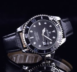 Wholesale premium digital - 2018 - Best Selling High-End Leather Strap AAA Men's Stainless Steel Quartz Automatic Watch Premium Watch Men's Brand Relojes Best Gift