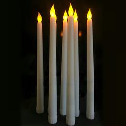 lampara de mesa led vela Rebajas 11 '' Vela de Simulación LED Batería Parpadeo Sin Llama de Marfil Velas Candle Candle Stick Candle Christmas Wedding Table Room Decoración de la Iglesia 8 cm