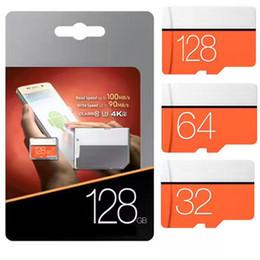 Wholesale 256gb Micro Sd Cards - DHL EVO Plus 256GB UHS-I MicroSDXC Micro SD Memory Card 128 GB 128GB 64GB 8GB class 10 microsd TF Card for Cell phone mp3 micro sd C10