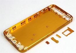 Canada Pour iPhone 5 assemblage de logement En alliage d'aluminium Boîtier arrière Couvercle de batterie de châssis 13 couleurs, y compris Champagne Or iPhone 5S Design Offre
