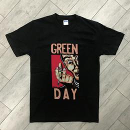 2019 seringa de arte Green Day Shirt Vintage camiseta 1995 Shear Art tee Seringa Por Atacado REPRINT Rude Top Tee Em Torno Do Pescoço de Manga Curta T-Shirt Modelos Básicos