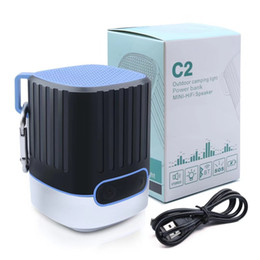 Wholesale Iphone Mini Power - Portable Wireless Bluetooth Speaker C2 With 4000mAh Battery Power Bank for iPhone X 8 Xiaomi Samsung S9 Outdoor Camping Light Riding Speaker