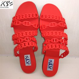 b8689c4f2 2017 summer H sandals women jelly shoes transparent crystal comfortable  ventilation shoes sexly luxury brand designer flats lady