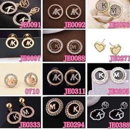 M. orecchini online-Lettera M Luxury Stud orecchino Designer lettera K donne orecchino accessori moda gioielli per regalo festa