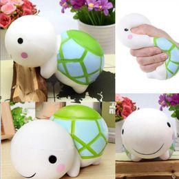 Wholesale tortoise soft toy - Jumbo Soft Squishy Turtle Charm Cream Scented Slow Rising Kid Toy Relieve Stress Tortoise New Squishies KKA4373