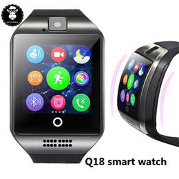 support intelligent compatible apple ios Promotion Q18 montre intelligente montre Bluetooth Smartwatch montre-bracelet avec fente pour carte SIM de l'appareil photo TF Q18 Z50 GD19 anti-perdu pour les téléphones Apple Android