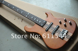 Wholesale One Piece Basses - Custom Natural 5 Strings One Piece Neck Wooden IBZ Electric Bass OEM Musical instruments