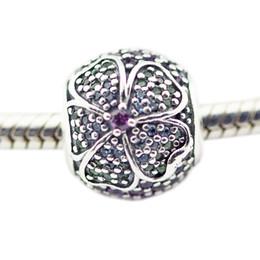 Mehrfarbige armbänder online-Glorious Bloom Multi-Colored CZ Silber Perlen für Frau DIY Schmuck machen Silber Charms Fit Original 925 Silber Charms Armband Halskette