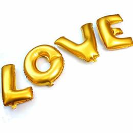 Canada 16 Pouce Or Argent Anglais Lettres Feuille Ballons Party Décoration Fournitures De Mariage D'anniversaire Partie Décor À La Maison Fournitures Offre
