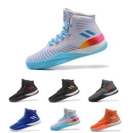 2019 восходящие ботинки 2018 Лучшая DERRICK ROSE'S D Adidas ROSE 8 SIGNATURE вязать flywire для мужчин Баскетбольная обувь Все звезды баскетбольные кроссовки Размер 7-11.5 дешево восходящие ботинки