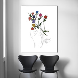 Wholesale Andy Warhol Canvas Art - Flower Pop Art Painting Andy Warhol Wall Pictures For Living Room Home Decor No Frame Still Life Painting