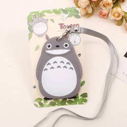 Wholesale Luggage Kids - cute work luggage cards case cover sets women lovely animal silicone bank credit bus ID IC card holders with lanyard for kids