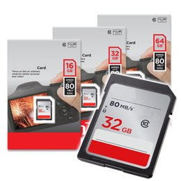 Wholesale camera sdhc card - 2018 HOT Selling 16GB 32GB 64GB 128GB Class 10 Big SD Card 80MBs High Speed For Shoot Camera Camcorders