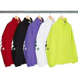 Escola jaqueta on-line-18ss Sp-Champ Jaqueta Da Escola Uniforme Vento Jaqueta Moda Mulheres E Homens Casaco de Alta Qualidade Outerwear Cinco Cores Jaqueta HFWPJK104