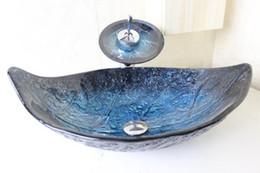 Lavabo de vidrio online-Los cuencos de cristal templados limpios del cuenco de cristal del lavabo para los fregaderos del cuenco de cristal de los cuartos de baño