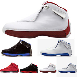 Wholesale 18 thread - wholesale 18 Toro Gym Red Suede Sport Royal Men basketball shoes blue black white red 18s mens Sports shoe trainers Sneaker us 8-13