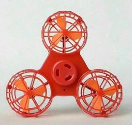 Wholesale New Electric Toys - FLYING Fidget Spinner Hand Toy Fidgets Toys New led Fingers Spinner electric will fly at the tip of the tip.