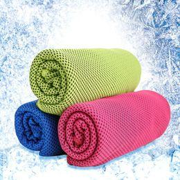 Toalla fría Microfibra Sensación fría Toalla deportiva Playa Verano Toallas de enfriamiento 30 * 100 cm desde fabricantes