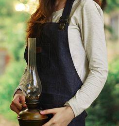 2019 grembiuli da cucina per adulti Grembiuli di design nuovo Denim semplice blu uniforme Unisex Jeans per adulti Grembiuli da cucina Pinafores da cucina sconti grembiuli da cucina per adulti