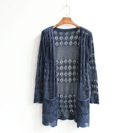 Wholesale Hand Knitted Clothes - Wholesale- Free Shipping cardigan women sweater women sweaters cardigan fashion long knitted clothing knitwear ourwear 1pcs lot kas62