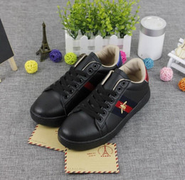 Wholesale Belts Flat Buckle - Embroidered small white bee small white shoes female summer PU leather flower star pearl flat belt men women shoes size 36-44