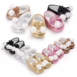 Wholesale Cartoon Girls Boots - Winter Baby Girls Bow Cotton Shoes Infant Moccasin-gommino Soft Soled Shoes Solid PU Leather Prewalkers Newborn Cartoon Cute Boots B11