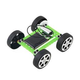 Mini robot solar online-YKS Mini Solar Toy DIY Car Niños Puzzle Educativo IQ Gadget Hobby Robot Nueva Venta