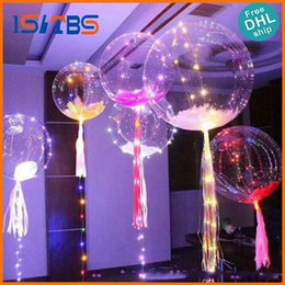 Wholesale Plastic Advertising - 2017 New Light Up Toys LED String Lights Flasher Lighting Balloon Wave Ball 18inch Helium Balloons Christmas Halloween Decoration Toys
