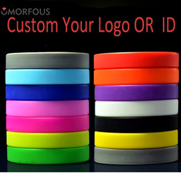Pulseras de eventos online-Pulseras de identificación personalizadas sus logotipos Pulsera de silicona para adultos / niños Logotipo de la compañía Logotipo del evento